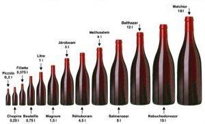 Les différents formats de bouteille de vin